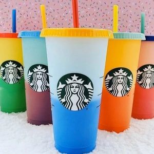 NWT Starbucks Color Changing Cup Set